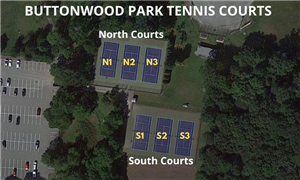 6 Tennis Courts at Buttonwood Park