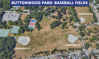 Buttonwood Park Baseball Fields