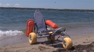 Amphibous Wheel Chair at West Beach